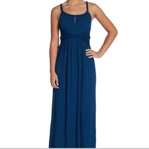UEC Gorgeous Max Studio Navy Ruched Maxi Dress